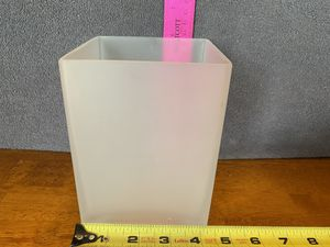 Square white frosted glass flower vase for Sale in Kinston, NC