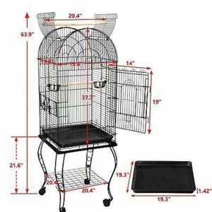 """63"""" Rolling Open Top STURDY Bird Cage with Detachable Stand Cockatiel Macaw Home for Sale in Whittier, CA"""