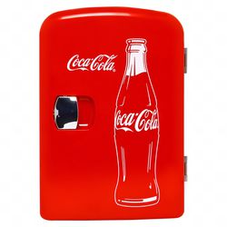 Classic Coca Cola 4 Liter/6 Can Portable Fridge/Mini Cooler for Food, Beverages, Skincare - Use at Home, Office, Dorm, Car, Boat - AC & DC Plugs Inclu for Sale in Altadena,  CA