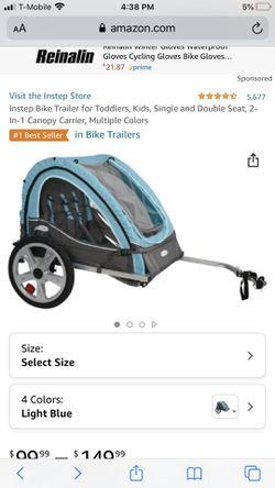 Bike trailer for 2 kids for Sale in San Jose,  CA