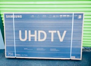 "75"" SAMSUNG UN75RU7100 4K UHD HDR LED SMART TV 2160P (FREE DELIVERY) for Sale in Lakewood, WA"