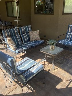 Beautiful Four piece heavy duty Iron Patio set $245 firm on the price serious buyer for Sale in Fresno,  CA