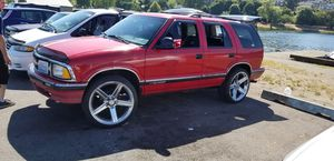 """95 chevy blazer with 22"""" irocz a I dash DVD player and a drop down screen runs good to much new things to list.. for Sale in Seattle, WA"""