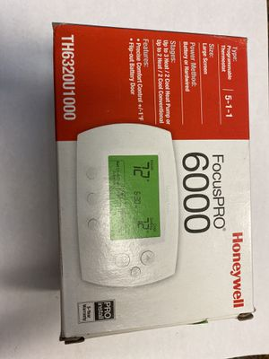 Honeywell FocusPRO 6000 Programmable Thermostat for Sale in Hollywood, FL