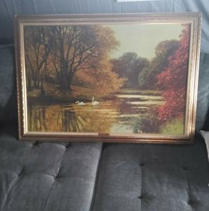 1970s SWAN LAKE PICTURE BY KURZWELLY EXCELLENT CONDITION for Sale in Port Neches, TX