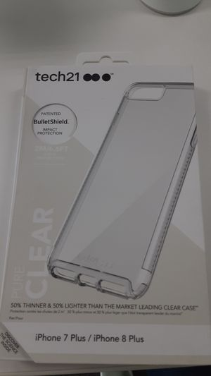Tech21 bulletshield clear case! Iphone 7 and 8 plus!! for Sale in San Angelo, TX