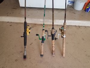 Fishing reel and rod.good condition. Have some brand new for Sale in Glendale, AZ