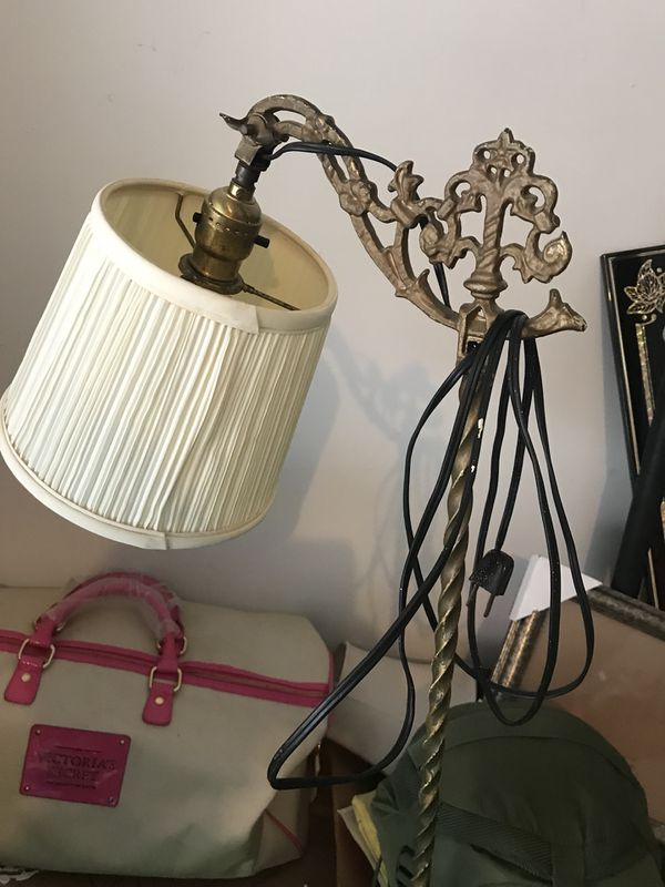 $40 Antique Table - Antique Lamp