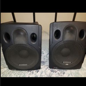 SAMSON XP200 power speakers (pair) $160 for Sale in Homestead, FL
