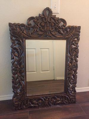 Beautiful antique solid wood mirror for Sale in Schertz, TX
