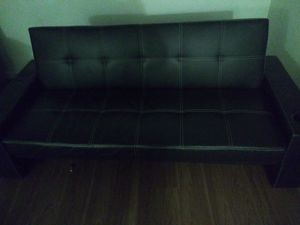 Brand New Leather Futon with Cup Holders for Sale in Federal Way, WA