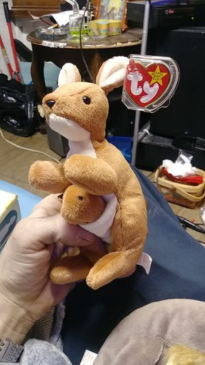 """Very Rare """"pouch"""" with baby ty beanie baby with errors for Sale in Corona, CA"""