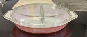 Pyrex Pink Daisy 1 1/2 QT Divided Dish for Sale in Camas, WA