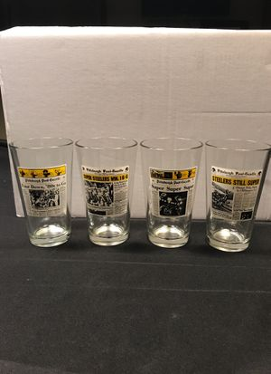 Steelers Collectible Pilsner Glasses for Sale in Cranberry Township, PA