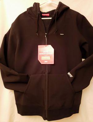 Supreme Windstopper Hooded Sweatshirt Black Size L for Sale in North Springfield, VA