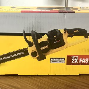 Dewalt 16 in. 60V MAX Lithium-Ion Cordless FLEXVOLT Brushless Chainsaw Battery and Charger Included for Sale in Tacoma, WA