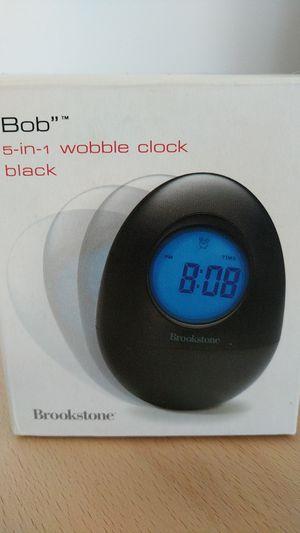 Brookstone Bob 5-in-1 Wobble Clock Black for Sale in Burbank, CA
