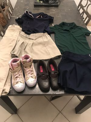 Girls jeans 👖 and school clothes plus shoes and sneakers. for Sale in Pompano Beach, FL