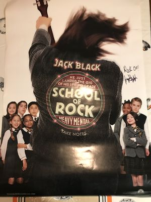 Official Autographed by Jack Black School of Rock Movie Theater Poster! for Sale in Traverse City, MI