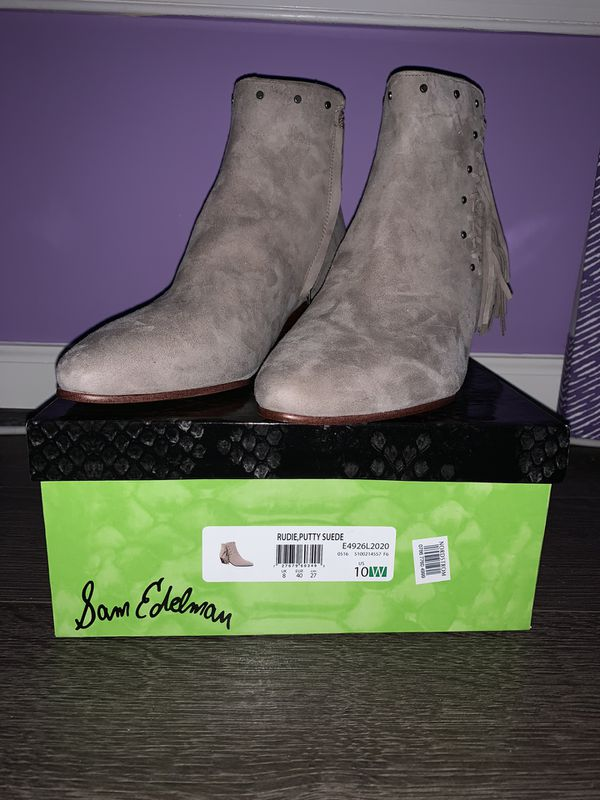 Sam Edelman Suede Booties - Size 10W
