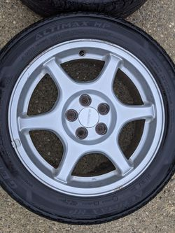 2001 Subaru Impreza 2.5RS wheels with General Altimax tires for Sale in Lacey,  WA