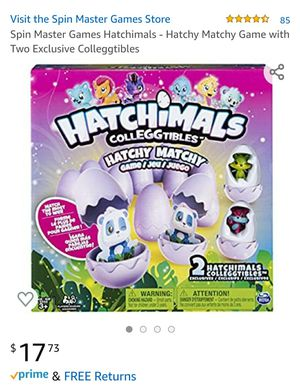Kids Toys Hatchimals - Hatchy Matchy Game with Two Exclusive CollEGGtibles Matching Puzzle for Sale in Portland, OR