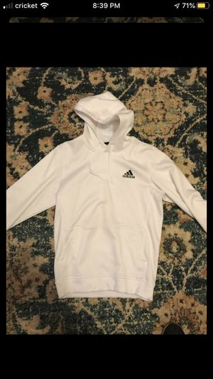 White ADIDAS hoodie SMALL MENS for Sale in Palos Hills, IL