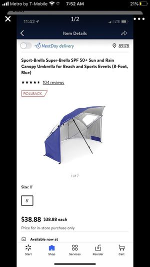 New canopy umbrella $30 ea for Sale in Las Vegas, NV