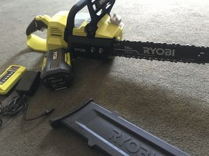 Ryobi 14 in chainsaw with battery and charger for Sale in Ontario, CA