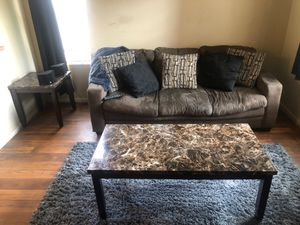 COUCH , COFFEE TABLE, END Table for low offer must go! 150 or Best offer for Sale in Sanford, FL