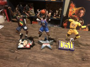 Shaquille O'Neal Shaq 3 figure lot All Star LSU Rapping for Sale in Anaheim, CA