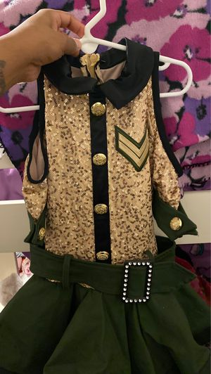 Girls 4T/5T army costume for Sale in Rialto, CA