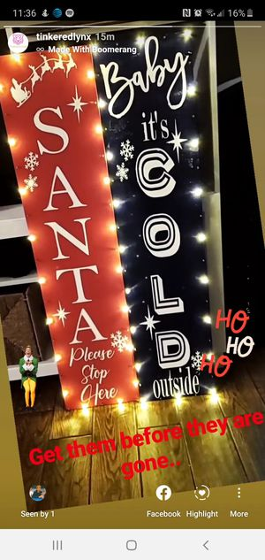 Custom lighted Christmas Signs Made to order for Sale in Glendale, AZ
