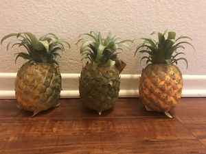 Set of three decorative pineapples for Sale in Los Angeles, CA
