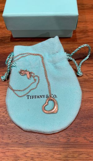 Tiffany & Co Sterling Silver Open Heart Pendant for Sale in Gardena, CA