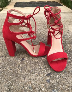 Red summer sandal heels for Sale in Fairfax, VA