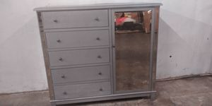 Gray glass chifferobe delivery available for Sale in Mableton, GA