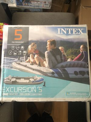 Intex Excursion 5 Inflatable Boat for Sale in San Bruno, CA