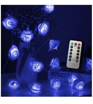 BrandNew 30LED String Lights| 16.4ft Battery Operated Blue Rose Lights for Sale in Richmond, VA
