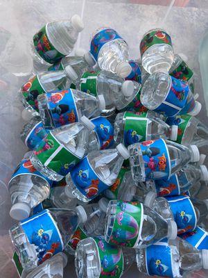 Trolls labeled 8 oz water bottles for Sale in Long Beach, CA