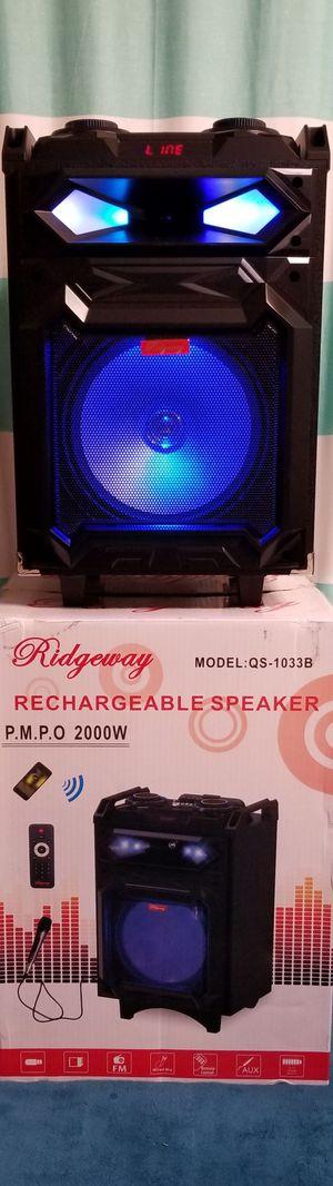 10 Inch New Bluetooth Speaker SD Card,Slot USB Port,FM Radio,Microphone Included For Karaoke ( Bosina ) Bz3 for Sale in Moreno Valley, CA