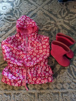 Girls Rain Jacket and Rain Boots for Sale in Stockton, CA
