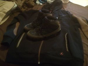 66996cac88c25c Jordan 9 olive and large Jordan hoodie for Sale in Columbus