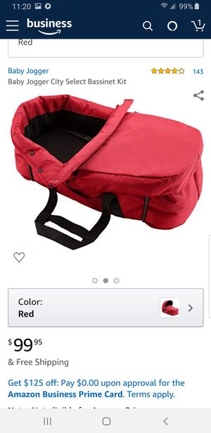 Bassinet Kit For Baby Jogger City Select Stroller red color opened box NEW for Sale in HUNTINGTN BCH, CA