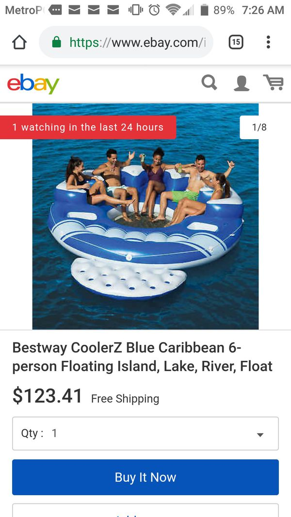 6 person inflatable boat like new