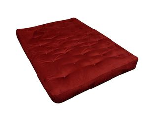 Red shikibuton shikifuton Japanese cotton futon mattress full size double size queen size foldable rollable for Sale in New York, NY
