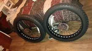 Chao yang tires 26 x 4.0 149 just for the rim I've got a set for 300 including the tire and tube and another set for $50 350 for both pair for Sale in Houston, TX