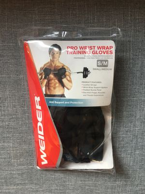 Brand new Weider Pro Wrist Wrap Training Weight Lifting Gloves for Sale in New York, NY