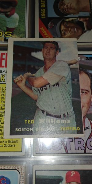 Vintage 1957 Topps Sports Baseball Card #1 Ted Williams! Great condition! No creases! Make Offer. for Sale in Downey, CA