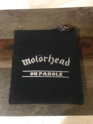 Motor head on parole set with sleeve and print and button for Sale in Riverside, CA